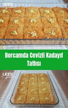 Borcamda Cevizli Kadayıf Tatlısı - Leziz Yemeklerim - galletas - Las recetas más prácticas y fáciles Christmas Desserts Easy, Easy Summer Desserts, Easy Drink Recipes, Summer Dessert Recipes, Easy Cake Recipes, Christmas Recipes, Christmas Drinks, Summer Drinks, Christmas Decorations