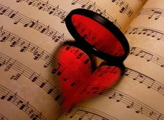 Music, heart, shadow photography.