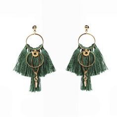 Description: – Brass plated with gold – Cotton/silk colourful tassels – Earrings about long Gosia Orlowska Designs: Buy Bespoke Fashion Jewellery Online Silver Jewelry Cleaner, Cleaning Silver Jewelry, Tassel Earrings Outfit, Tiny Earrings, Silver Earrings, Fashion Jewellery Online, Discount Jewelry, Turquoise Jewelry, Women Jewelry