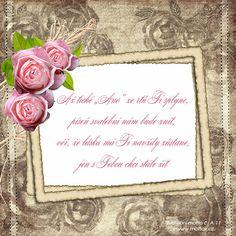 """Verš na svatební oznámení: Až tiché """"Ano"""" ze rtů Ti splyne... Place Cards, Place Card Holders, Frame, Picture Frame, Frames"""