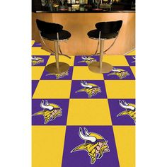 Minnesota Vikings NFL Team Logo Carpet Tiles
