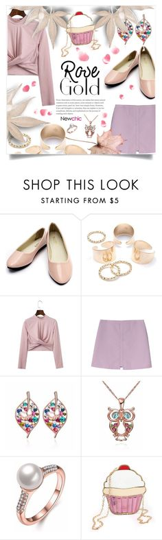 """""""6. Newchic Woman Rose-gold Jewelry"""" by wannanna ❤ liked on Polyvore"""