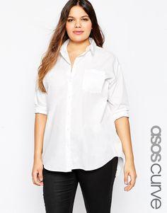 Image 1 ofASOS CURVE Boyfriend Shirt