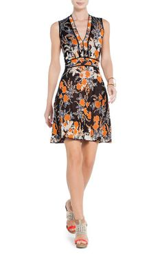 Orange flowers & Tailored Piping  August A-Line Dress | BCBG, Inspiration