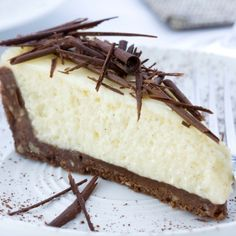 A Very tasty recipe for chocolate nutty crust vanilla bean cheesecake. Served topped with chocolate shavings.. Chocolate Nutty Crust Cheesecake Recipe from Grandmothers Kitchen.