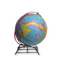 """""""Welcome Worlds"""" globe"""