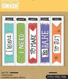 Scrapbooking - Smash Flag Tabs, Page Tabs, Bookmarker - ein Designerstück von Utenliesjen bei DaWanda