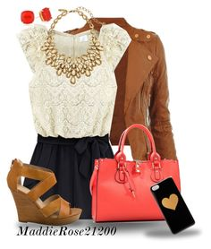 """""""Love the lace and shorts together! Also love the necklace. The outfit is very cute"""