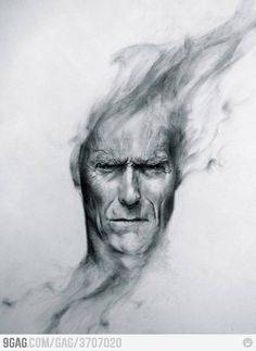 Awesome painting of Clint Eastwood