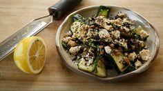 Zucchini and pinenut salad