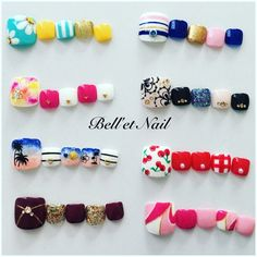 belletnailさんのタイダイ,フラワー,フルーツ,デート,夏,ボーダー,マリン,フットネイル♪[1659741]|ネイルブック Feet Nail Design, Pedicure Nail Designs, Pedicure Nails, Toe Nail Designs, Cute Toe Nails, Toe Nail Art, Water Nail Art, Cute Pedicures, Golden Nails