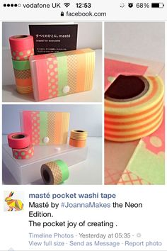 Masté - Latest neon JoannaMakes  ' Did not plan to store these little cutie Masté  tapes in it but it is a natural home'