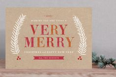 Merry Sorbet Holiday Card by Sarah Curry at minted.com