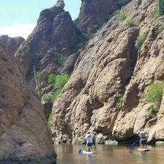 Arizona ' s Canyon Lake.   #supaz #paddleaz #sup