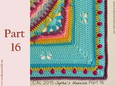 Find all the information for Sophie's Universe, including pattern links, video links, yarn packs and photographs. Resources Photo Tutorial by Dedri Uys Add the Free Pattern to your Ravelry Li… Crochet Mandala Pattern, Crochet Borders, Crochet Stitches Patterns, Crochet Squares, Stitch Patterns, Knitting Videos, Crochet Videos, Granny Square Blanket, Knitted Blankets