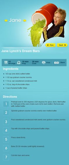 Jane Lynch's Dream Bars