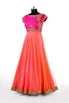 So many jaw dropping styles in Anarkalis. To own this style. pls WhatsApp on 94929 91857 Indian Gowns, Indian Attire, Indian Ethnic Wear, Pakistani Outfits, Indian Outfits, Indian Clothes, Western Outfits, Indowestern Gowns, Long Gown Dress