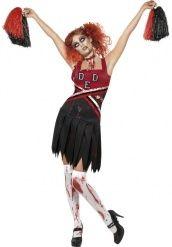 Griezelige zombie cheerleader carnavalskostuum voor dames - Beschikbaar in maten XS, S, M of L voor slechts €39.99