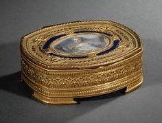 Antique French Gilt Bronze Dresser Box