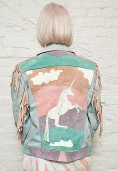 Denim Jacket- Unicorn.