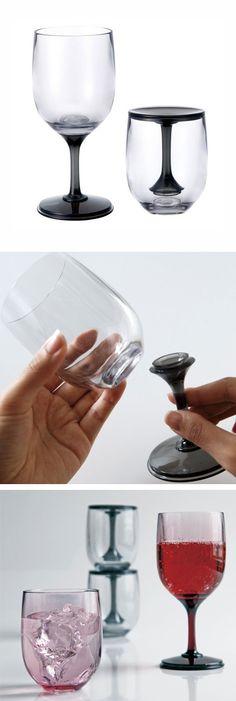 Wine glass + tumbler in one