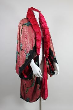 1920's Art Deco Metallic Lamé Rose Coat | From a collection of rare vintage coats and outerwear at http://www.1stdibs.com/fashion/clothing/coats-outerwear/