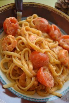 recette one pot pasta crevette
