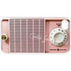 Pink Retro Vintage Old Radio Iphone 4, 4S, 5, 5s, 5c and Samsung... (255 ARS) ❤ liked on Polyvore featuring fillers, accessories, music, electronics, decor, backgrounds, saying, quotes, phrase and magazine
