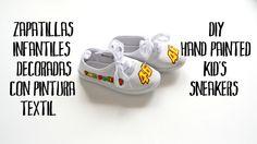 Zapatillas infantiles decoradas con pintura textil | El Rincon de Fri-Fri