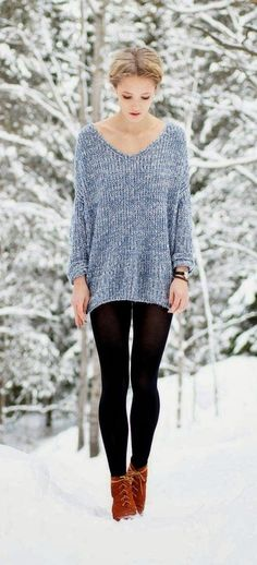 Cozy outfit for a snowy day.
