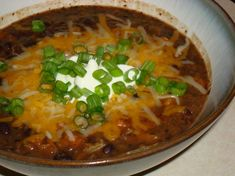 T.G.I. Friday s Black Bean Soup made March 2013. Yummy! We love this soup, so tasty and good. A proven winner!