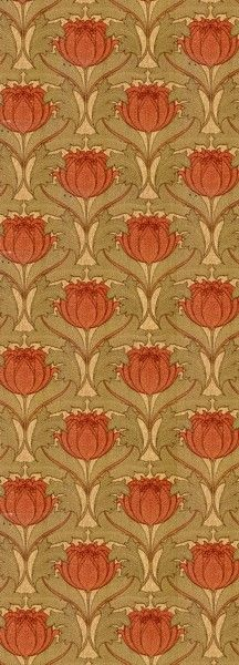 Nouveau Blossom - Historic Wallpapers - Victorian Arts - Victorial Crafts - Aesthetic Movement