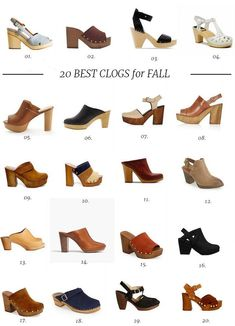 20 Best Clogs for Fall - The Effortless Chic - Bag, shoes, clothes woman shops Clogs Outfit, Clogs Shoes, Oxfords, Shoe Boots, Shoes Sandals, Oxford Shoes, Ankle Boots, Shoes Sneakers, Black Skinny Pants
