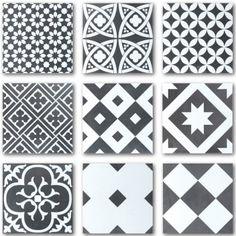 Seinä- ja Lattialaatta Ciment Mix-musta-valkoinen 20 x 20 cm - Bauhaus