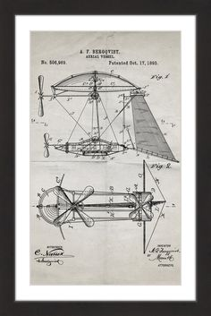 Aerial Vessel 1893 Old Paper - Marmont Hill