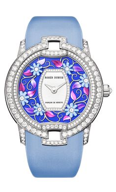 Roger Dubuis Blossom Velvet Blue - White Gold | RDDBVE0055 - Discover the timepiece