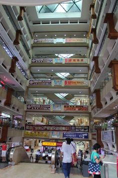 The Guangzhou Pearl and Jewelry Market is about seven stories high!