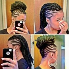2019 Braided Mohawk Hairstyles And Get Inspiration To Remodel Your Hair Of Your Dreams Pelo Natural, Natural Hair Tips, Natural Hair Styles, Natural Twists, Natural Girls, African Hairstyles, Braided Hairstyles, Cool Hairstyles, Braided Updo