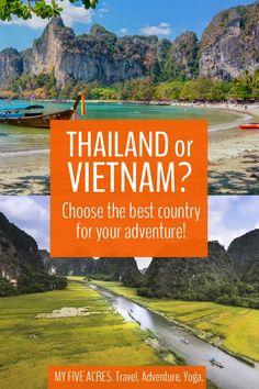 Thailand or Vietnam? Which is Best for Your Next Adventure? Visit Thailand, Thailand Travel, Asia Travel, Amazing Destinations, Travel Destinations, Travel Tips, Budget Travel, Travel Ideas, Sri Lanka