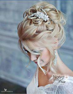 Penteado para noiva. Lindo