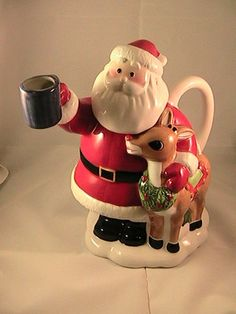 Rudolph The Red Nosed Reindeer Christmas Tea Pot - perfect for a pot of Minty Winter Wonderland or St. Nick's Surprise!