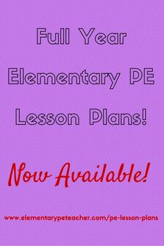 FULL YEAR of Elementary PE Lesson Plans.  40 Weeks - that's 200 Days of PE Activities already planned out for you and your students!!  Enjoy Your School Year! :)