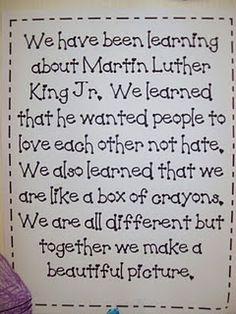 MLK Crayon Box that Talked activity