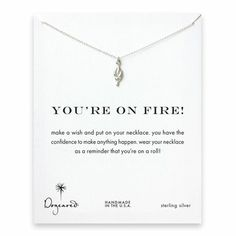 you're on fire! Torch necklace, sterling silver - Dogeared