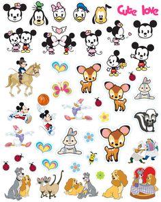Disney Mashup Printable Sticker Sheet