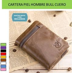 Carteras, billeteras y monederos de hombre hechos de piel y cuero natural con diseños originales para ir siempre a la moda.