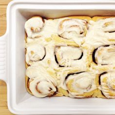 Why knead by hand when your mixer can do all the work? We easily make these allergy-friendly cinnamon rolls in our Kitchen Aid. Cutting tip and recipe here!