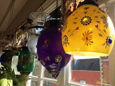 Jewelled glass Indian lights