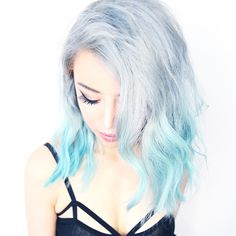 Silver Ombre Hair From Blue ♥ Remove Hair Color in 1 Wash Tutorial ♥ Wengie –…