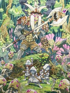 Watercolor Illustration, Watercolor Art, Thomas Romain, Character Art, Character Design, Fantasy Art Landscapes, Dungeons And Dragons Homebrew, Fantastic Art, Creature Design